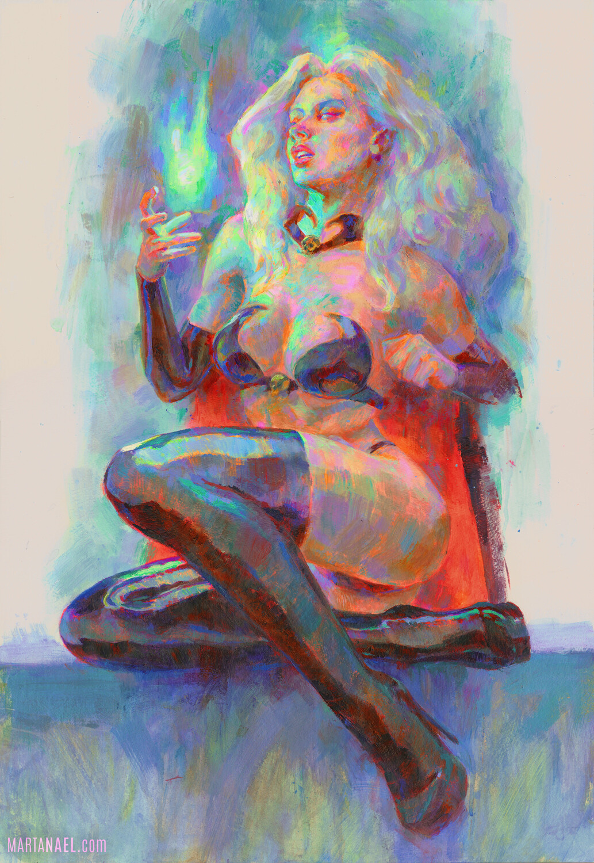 Lady Death Acrylic painting