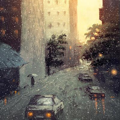 Emrullah cita sketch snowy