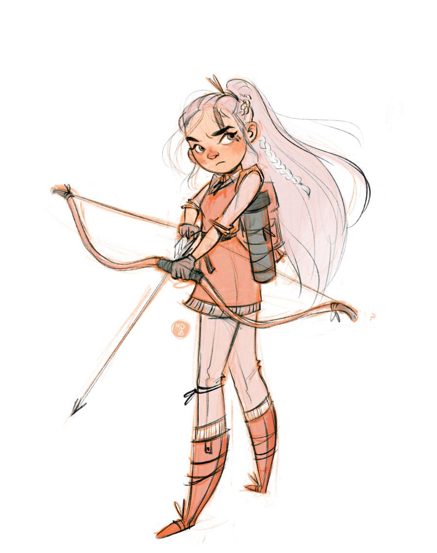 exploration sketch of my D&D character Freja