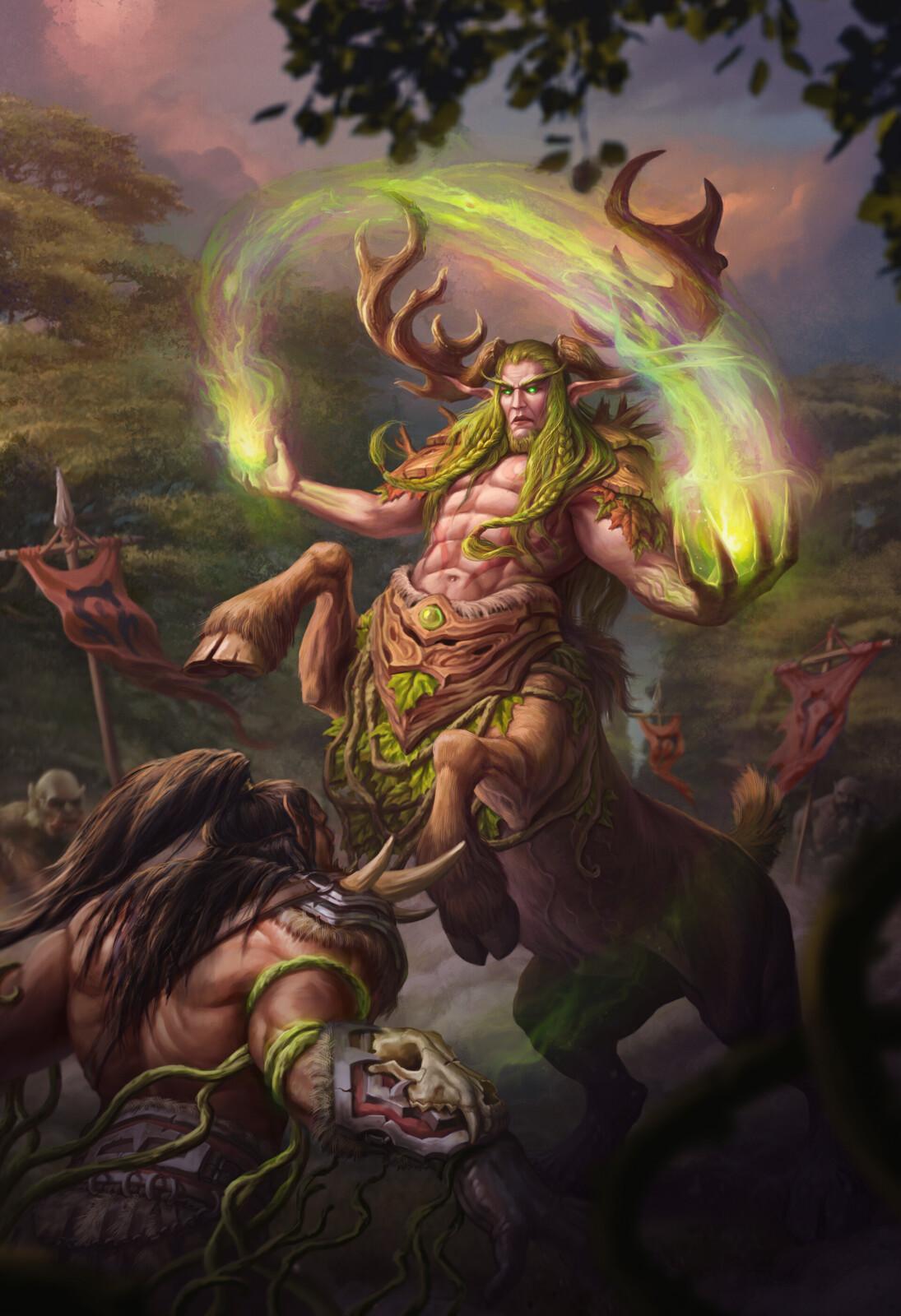 Cenarius vs Grommash Hellscream Fan Art