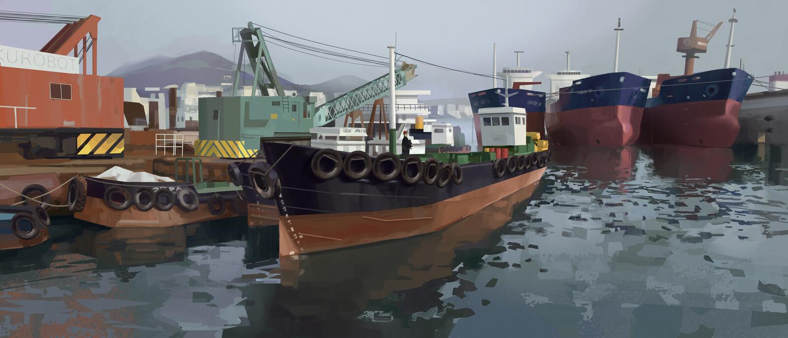 Korean Shipyard (+ process gif)