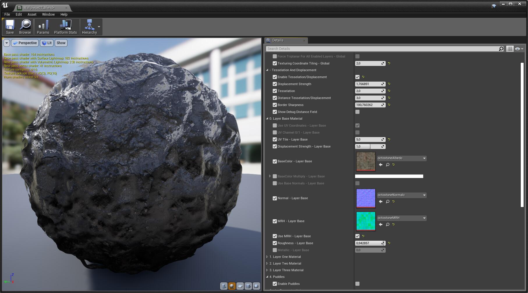 ArtStation - (TECH) UE4 Multilayer Master Material, Daniel