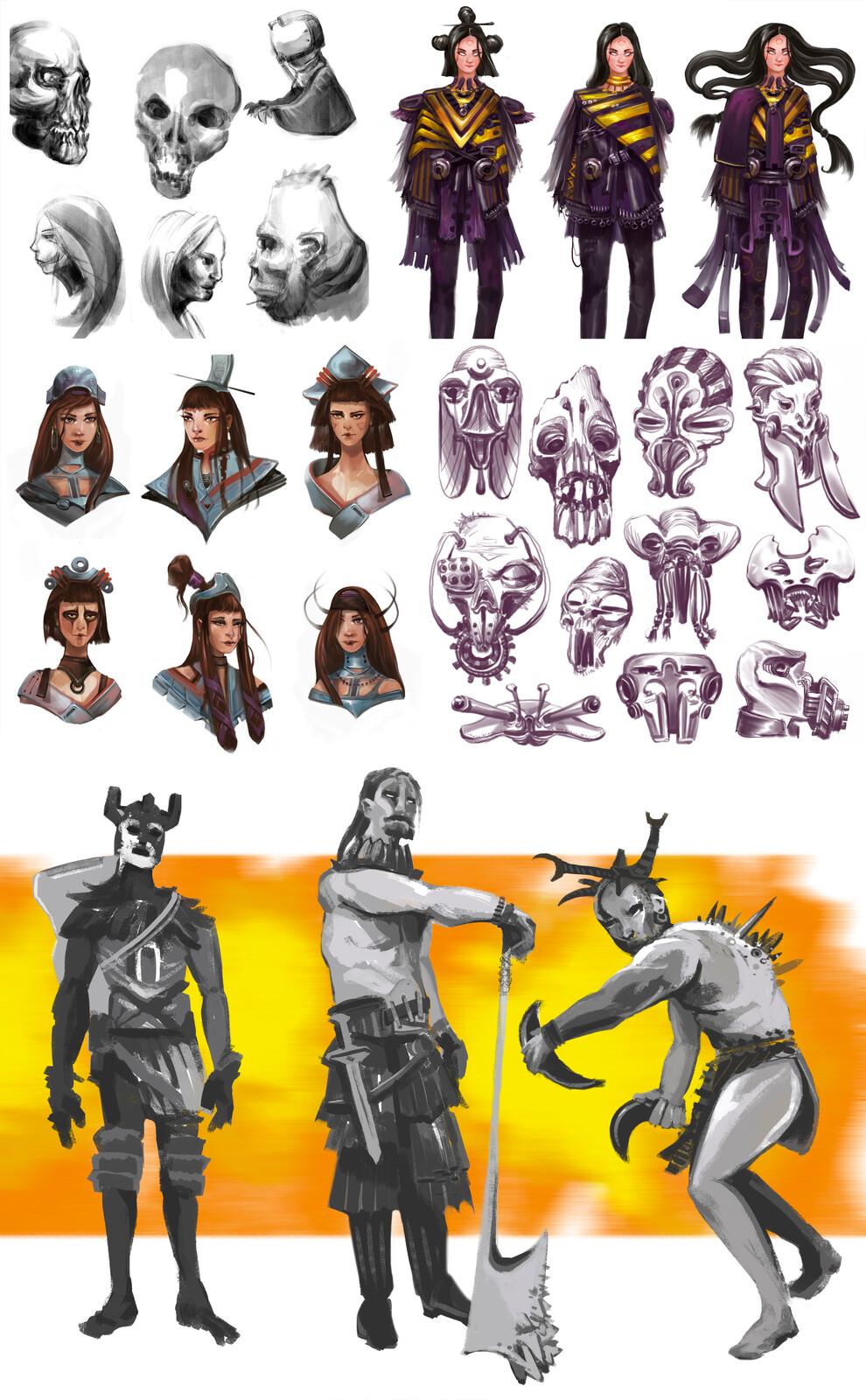 Character Concept Art Sketchbook