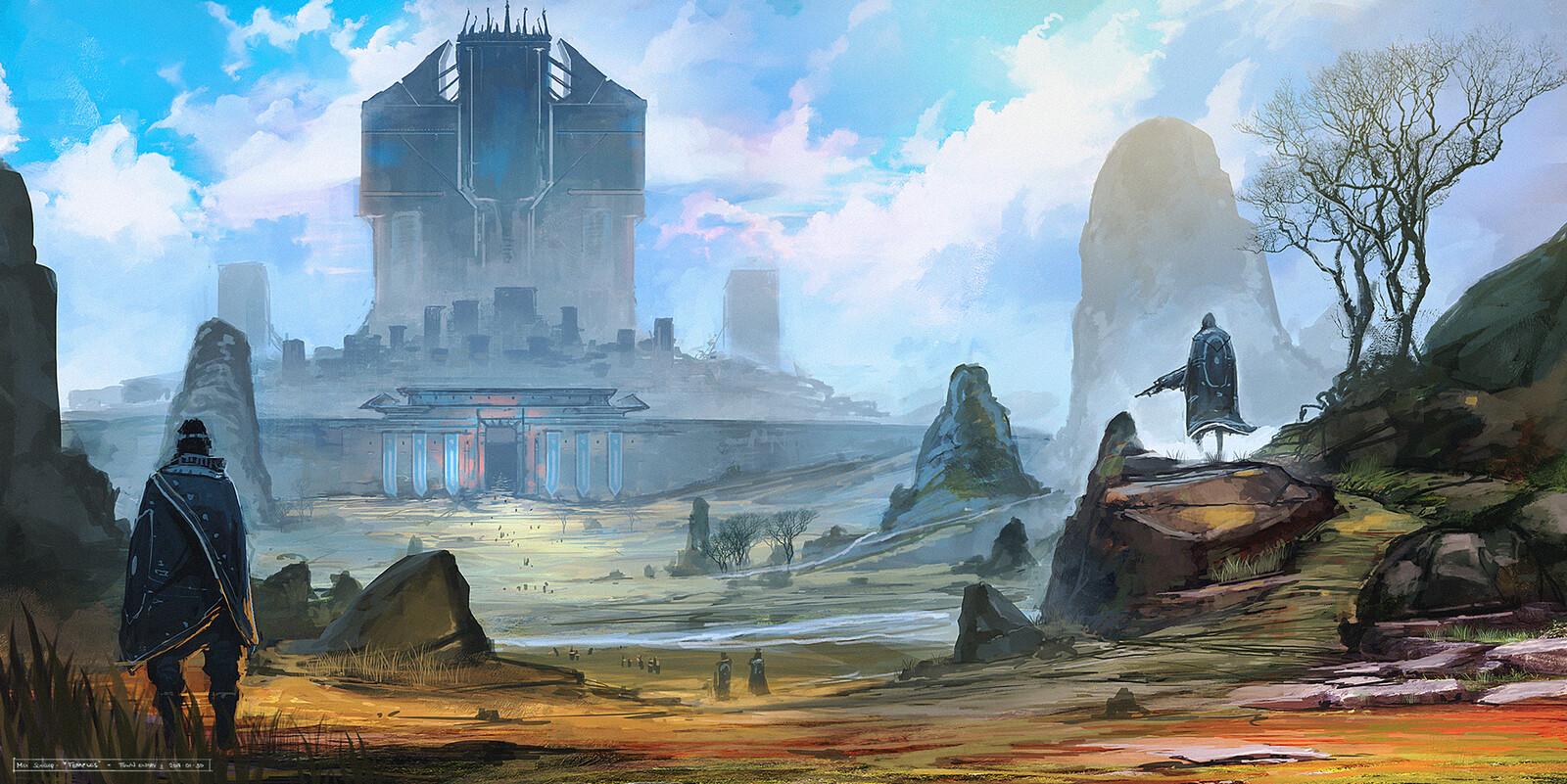 Temples - VisDev Worldbuilding 2