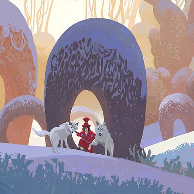 Hugo puzzuoli hugo puzzuoli loup snow sorciere03
