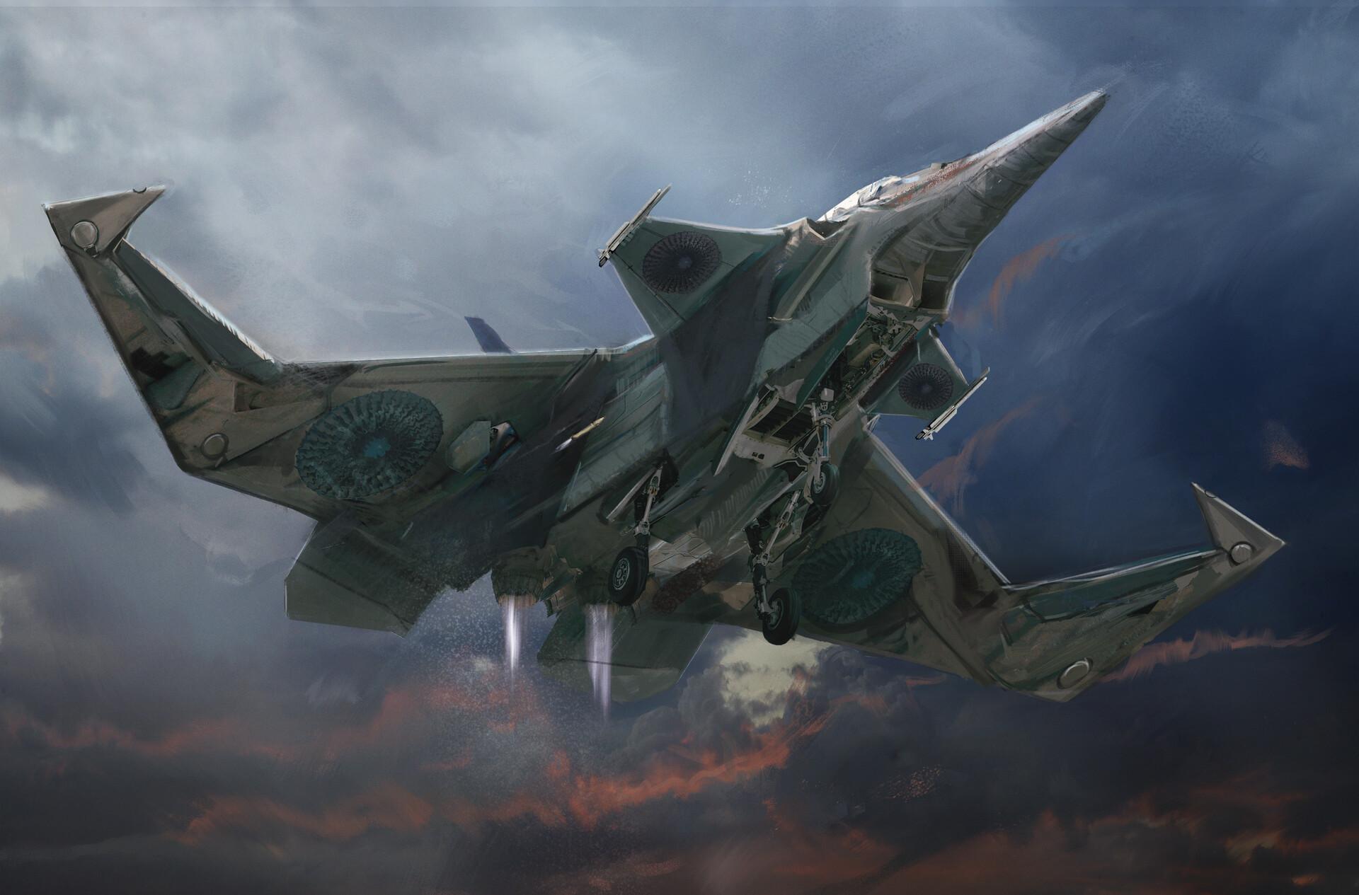 David tilton dti vanguard fighterjet bottom sketch a09