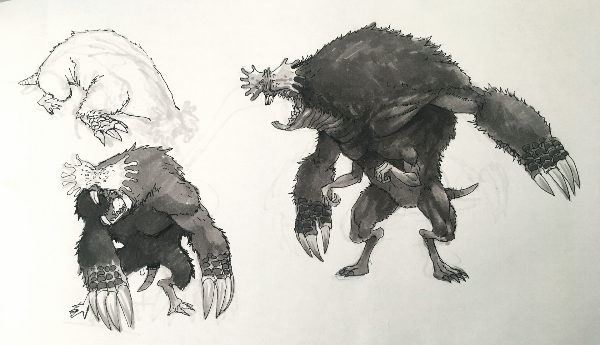 Original pen/marker sketch.