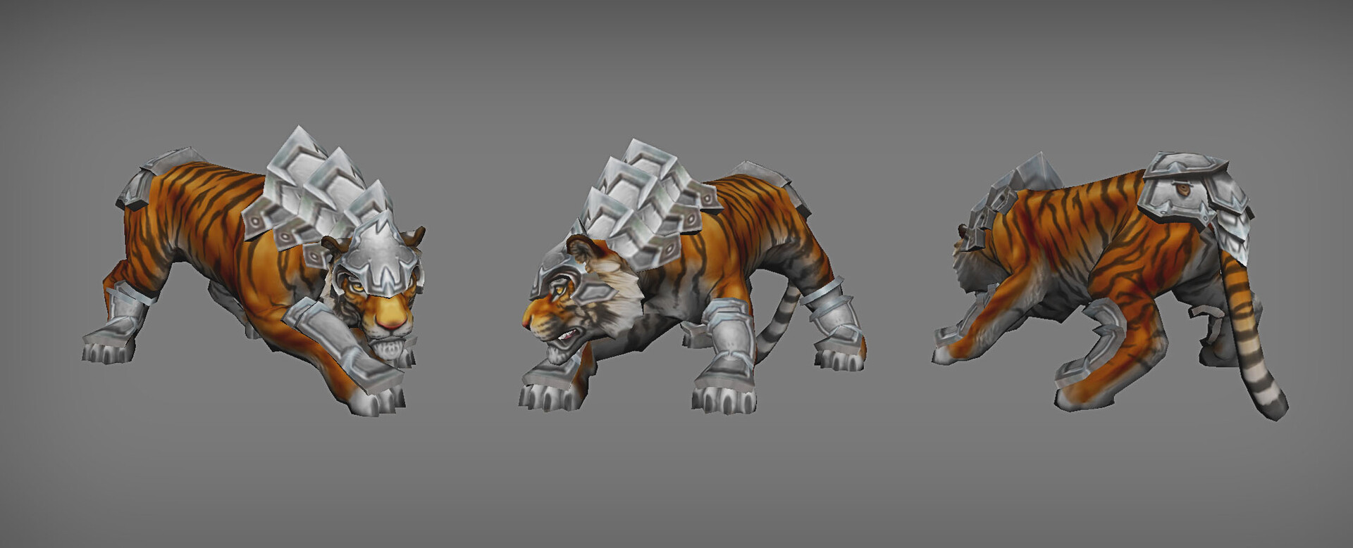 Tiger creature with armor