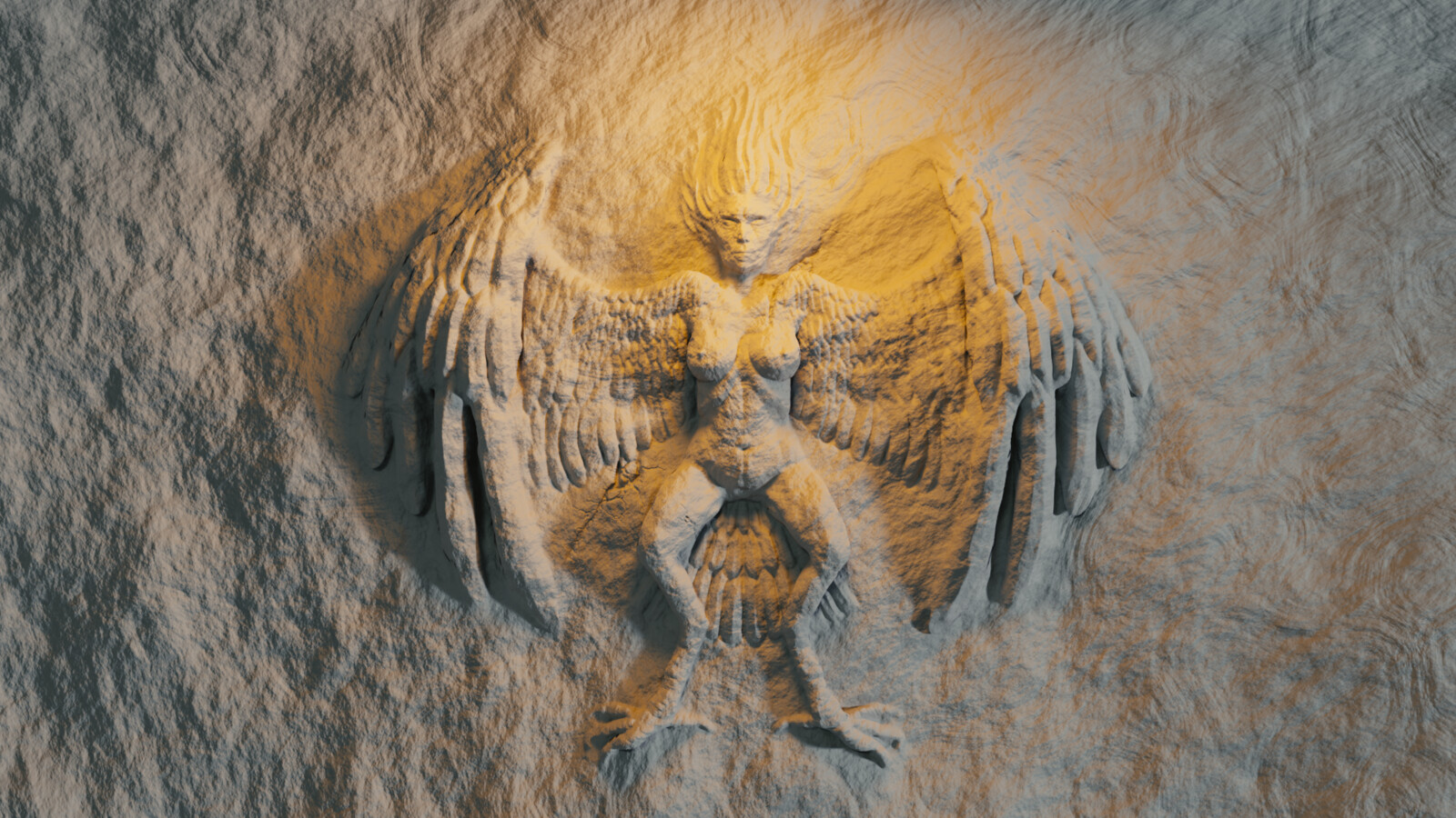 Day29.Harpy Mural relief-Harpy Total time:1 Hour 20 minutes