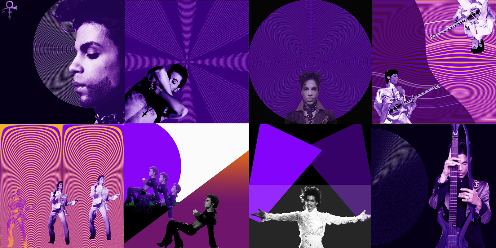 Made a cd foldout for Prince who is my favorite singer_Photoshop practice