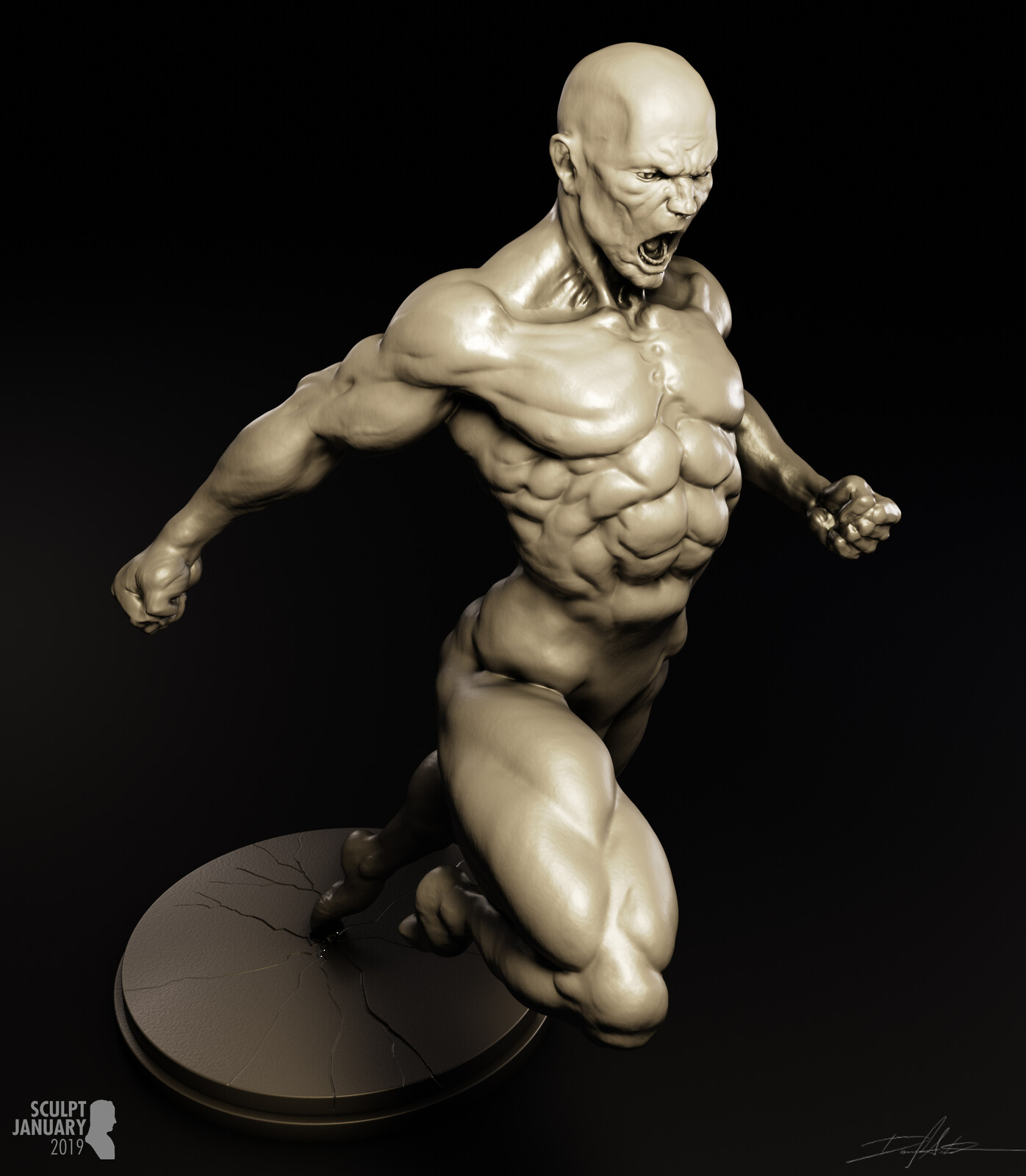 SCULPT JANUARY Day 31 - Extreme Expression (body)