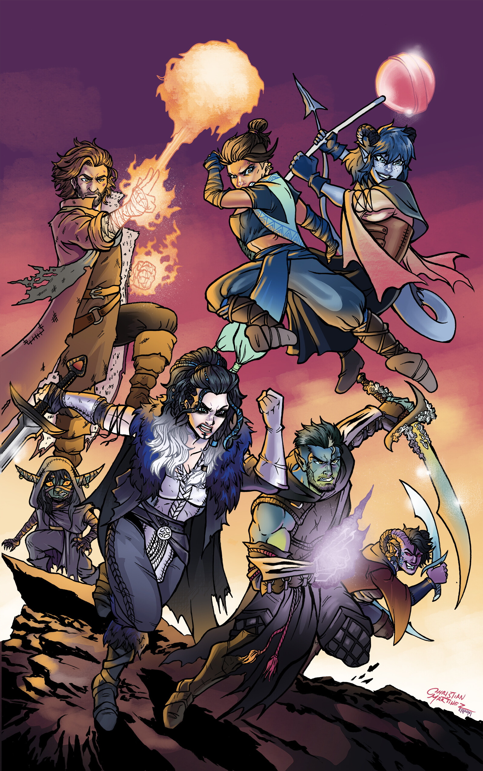Christian Martinez Critical Role The Mighty Nein Some fanart of the mighty nein from critical role. christian martinez critical role the