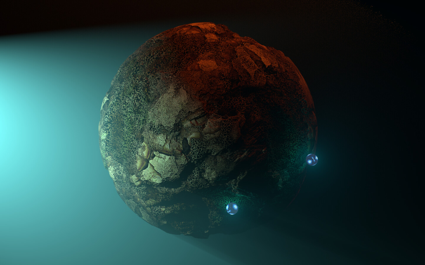 Alien planet Material light test