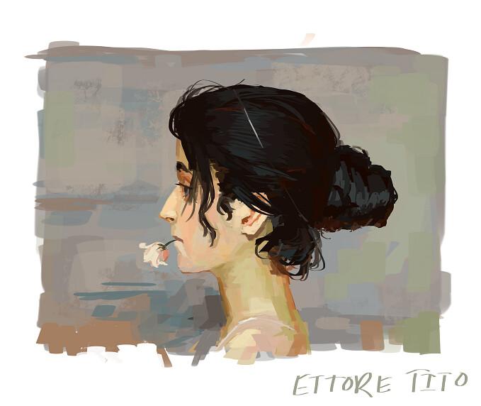 Ettore Tito Study
