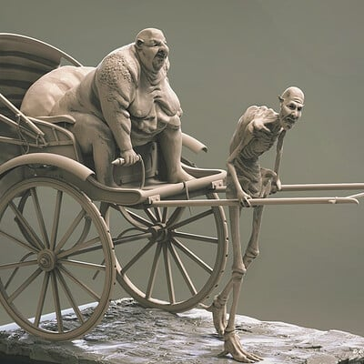 Surajit sen rickshaw puller sculpting surajitsen feb2019 ins e