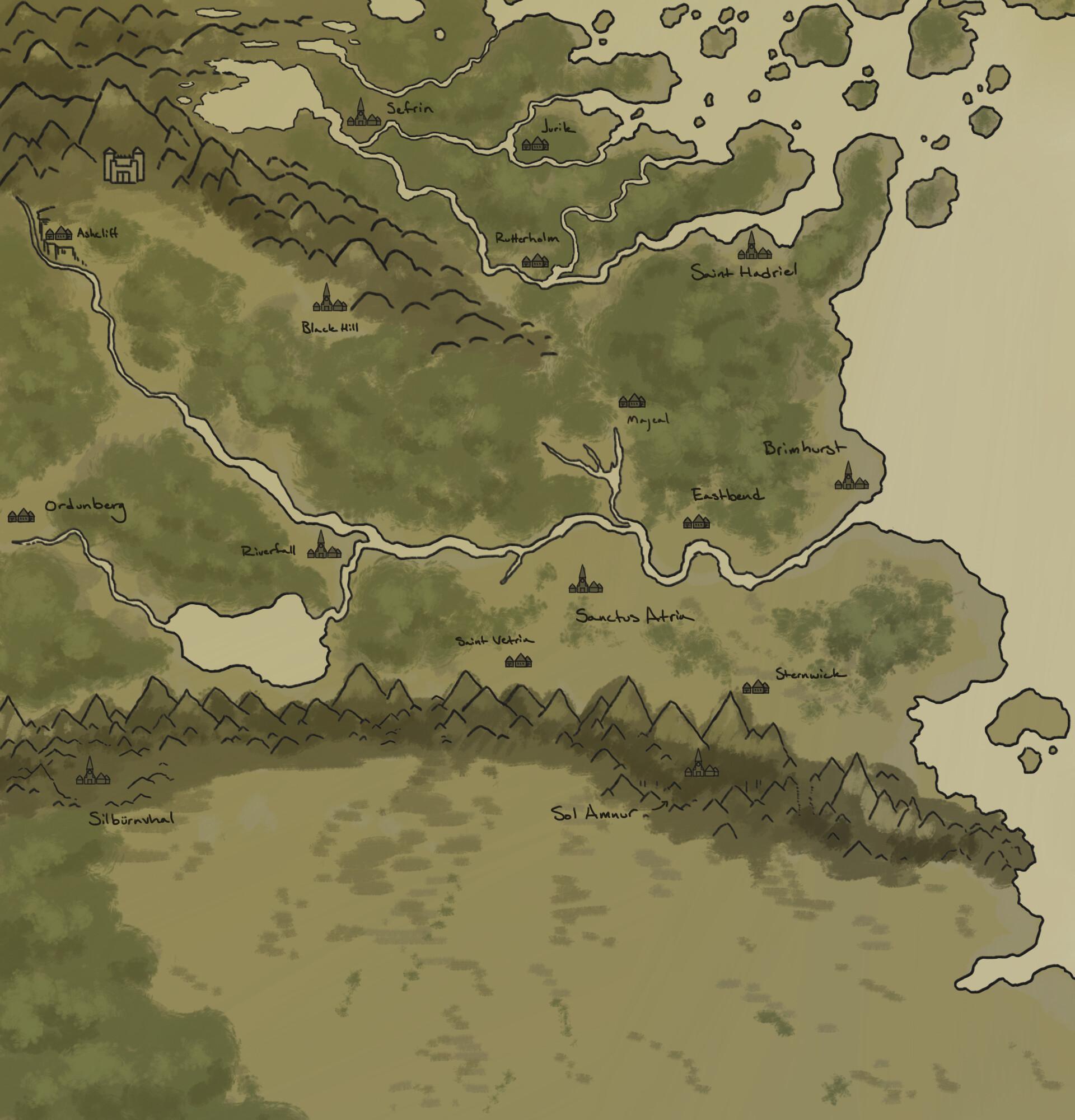 Artstation Throneseeker World Map Jack Fiorella