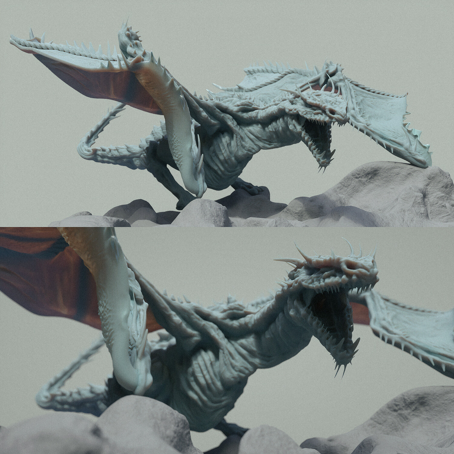 Early WIP of dragon sculpt