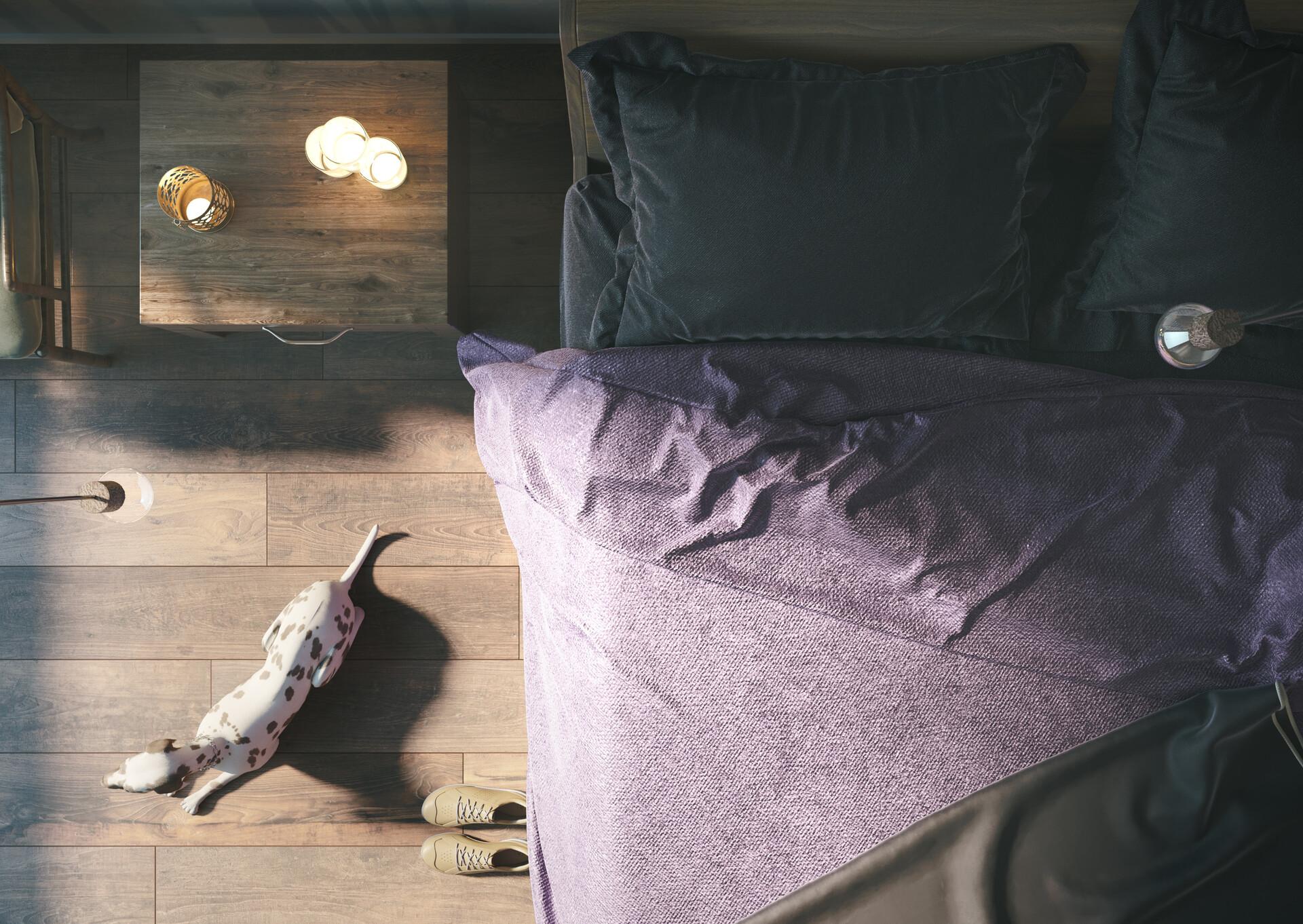 Master bedroom / top