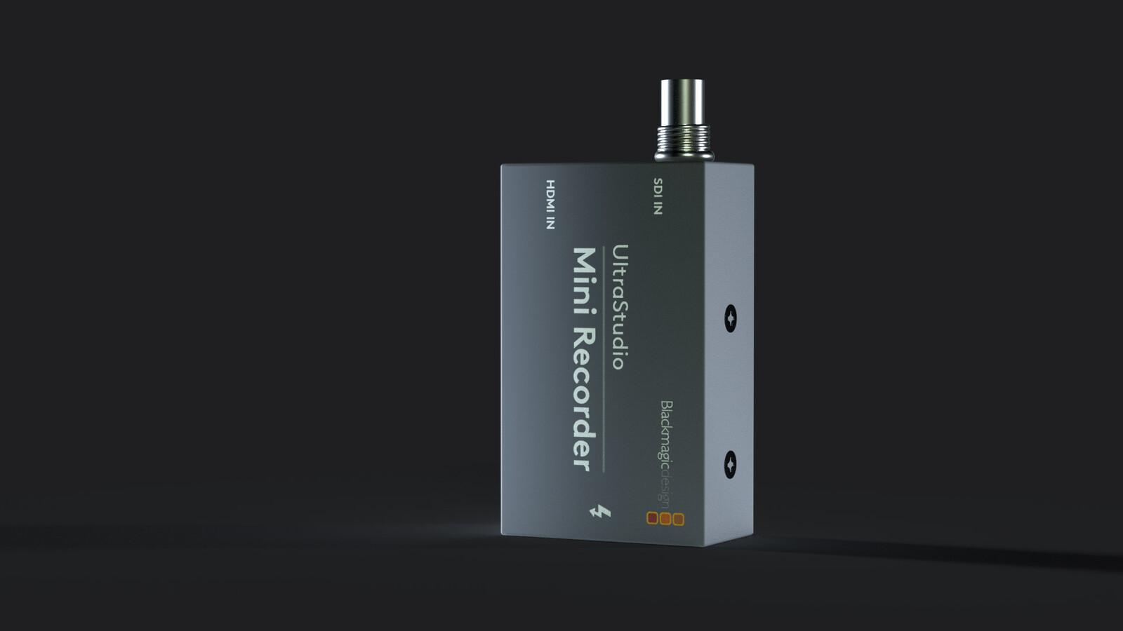 Blackmagic UltraStudio Mini Recorder - Product Modeling