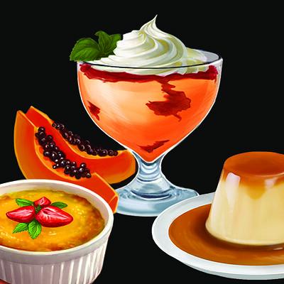 Ellie kirkner absurdist churrascariafood desserts