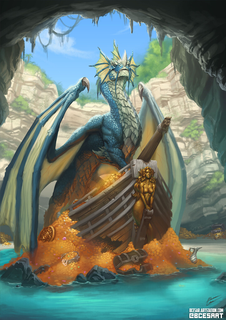 Bruno cesar blue dragon