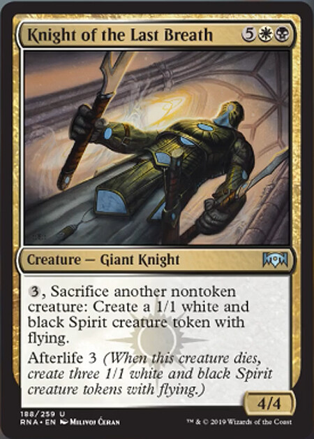 """""""Knight of the Last Breath""""  Magic the Gathering, Ravnica Allegiance set - © Wizards of the Coast"""