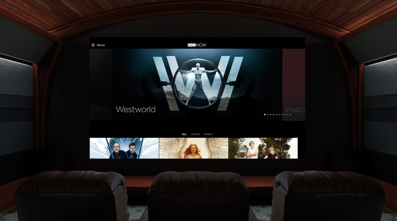 HBO Home Theater   Viewer's POV in VR