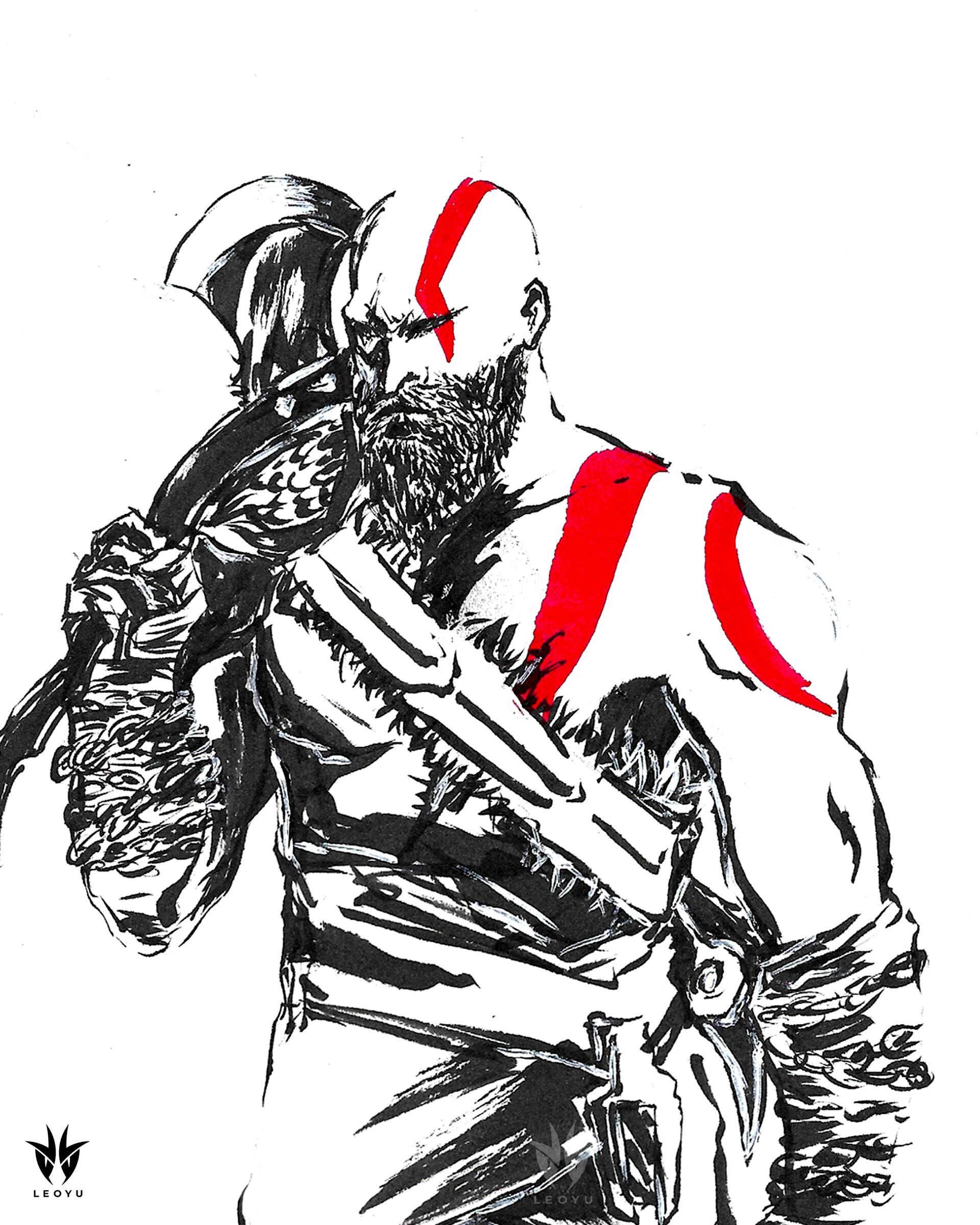 Artstation God Of War Kratos Leo Yu