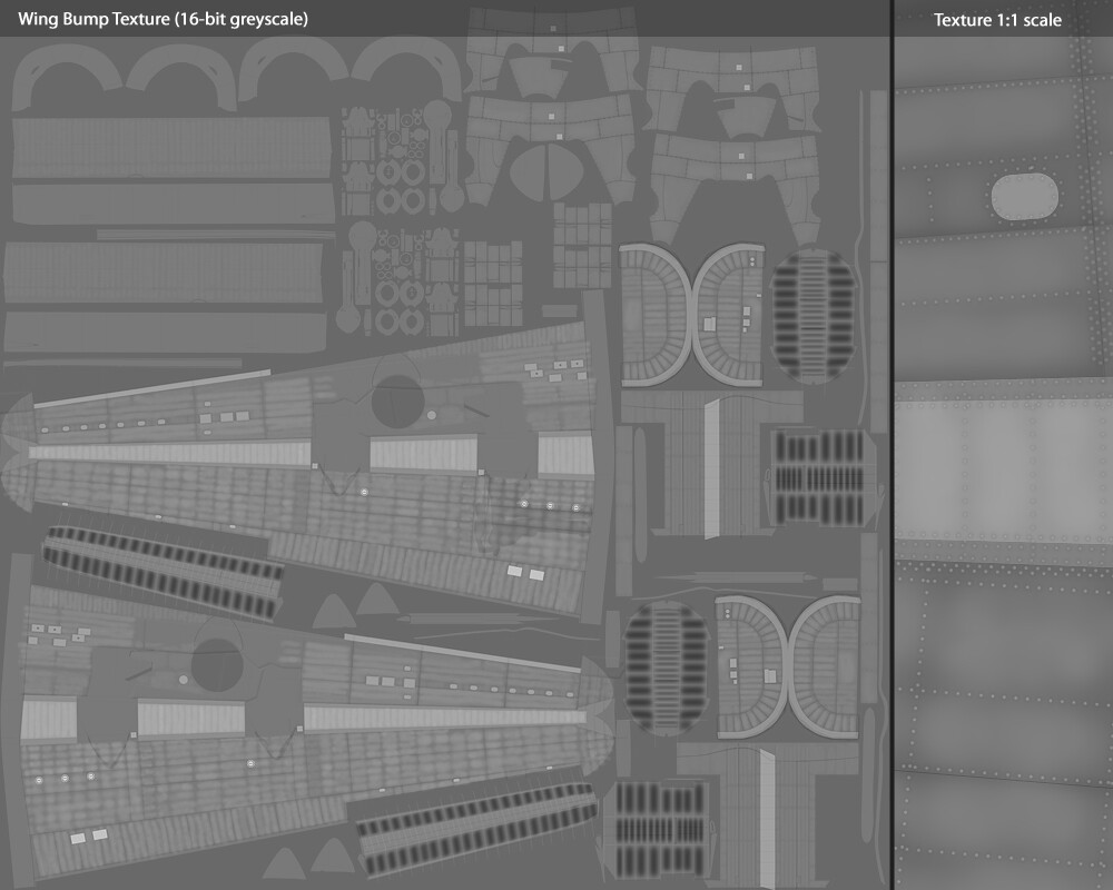 Wings Bump Texture Layout