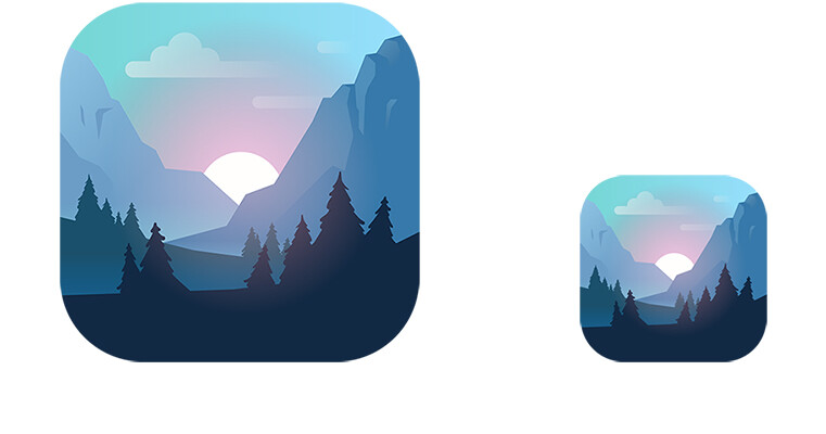 Icon created for the App Store