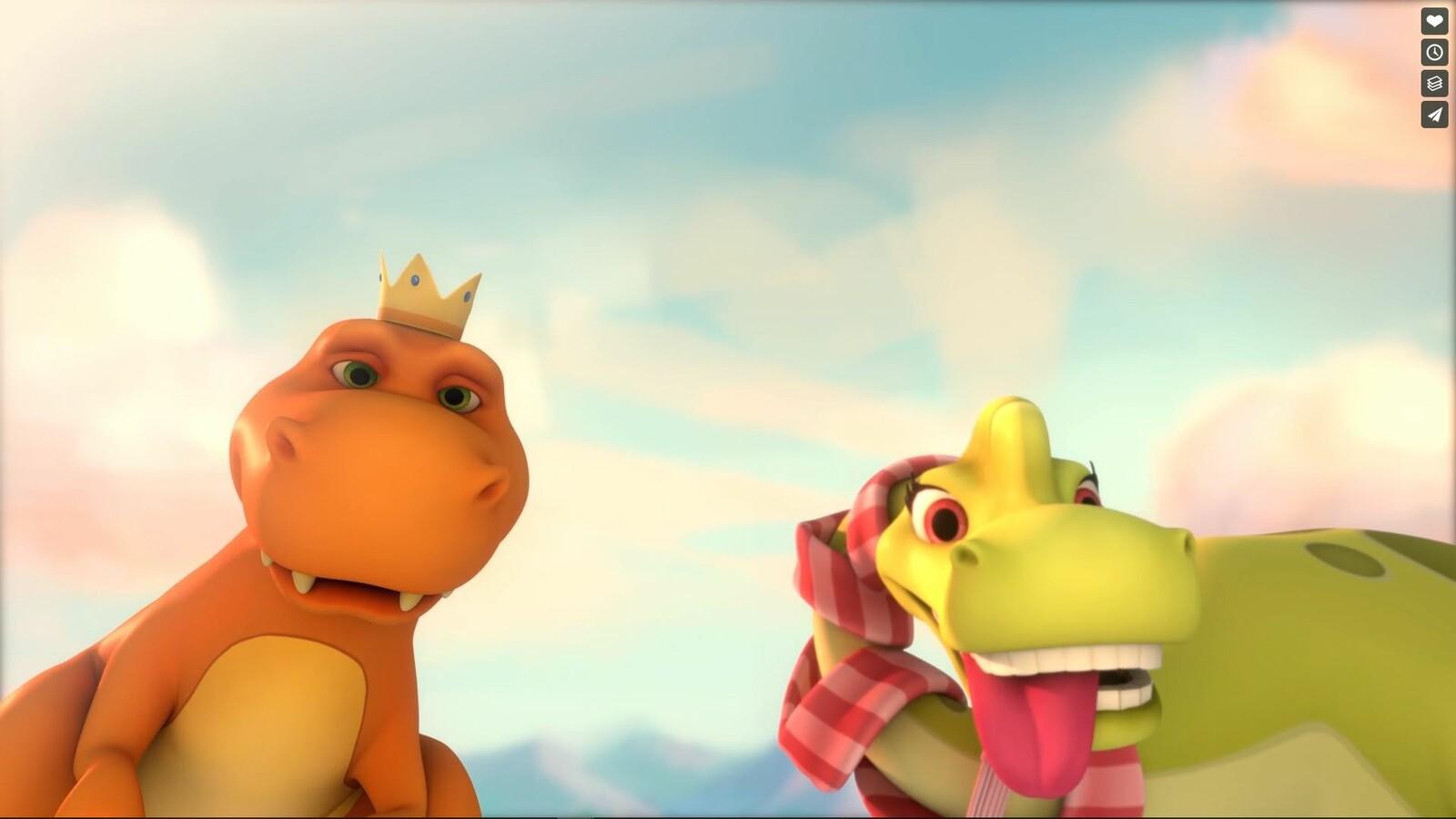"""T-Rex for serie TV """"Grandma's Dinosaurs"""""""