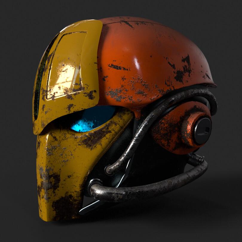 Sci-Fi Helmet WIP