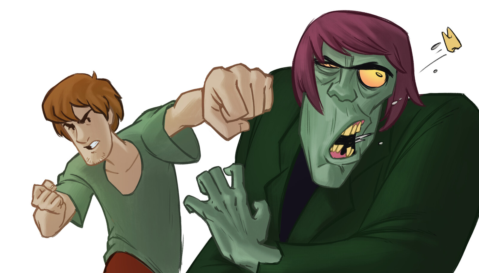 First Concept sketch, looking back, perhaps Shaggy's gesture here is a bit nicer.