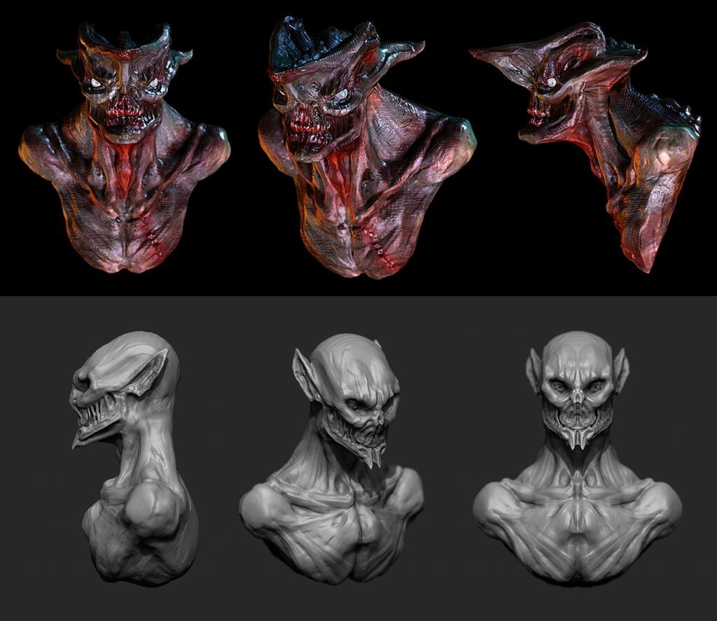 Creature bust sculpts