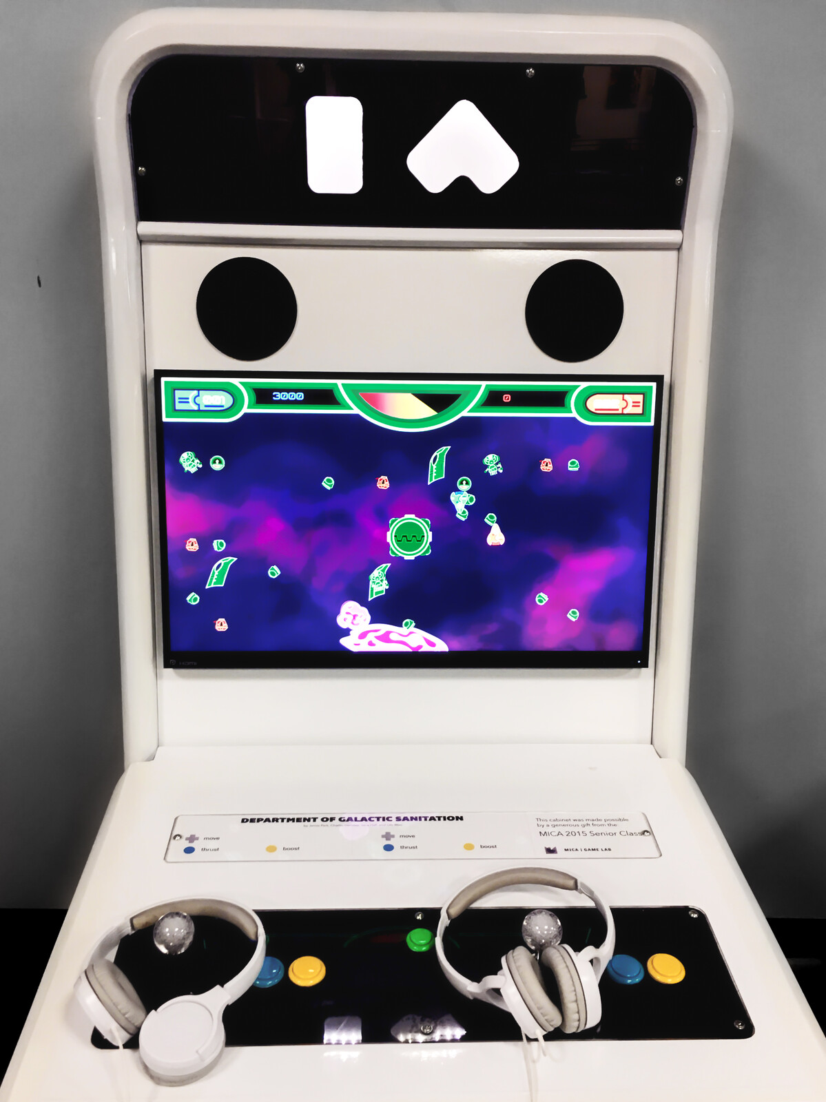 Installed in school arcade cabinet