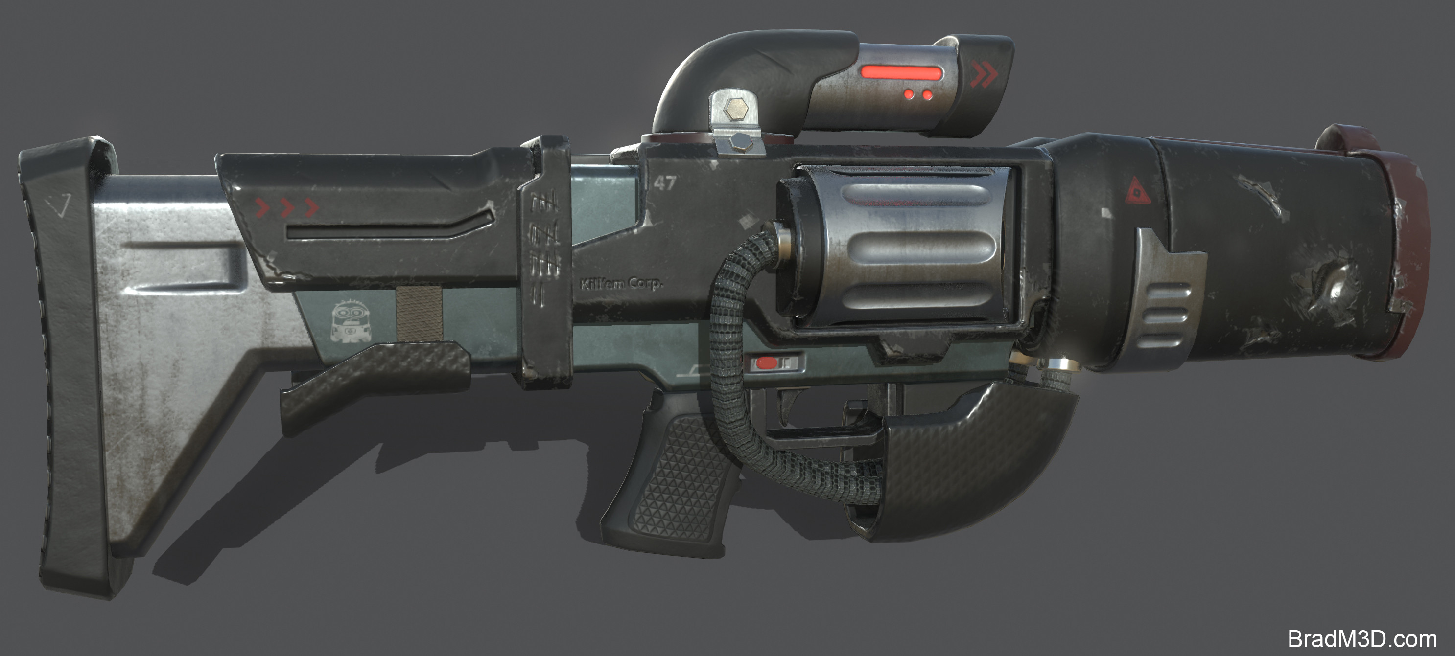 Marmoset: Screen Grab Gun_01 (Totally concepted by me).