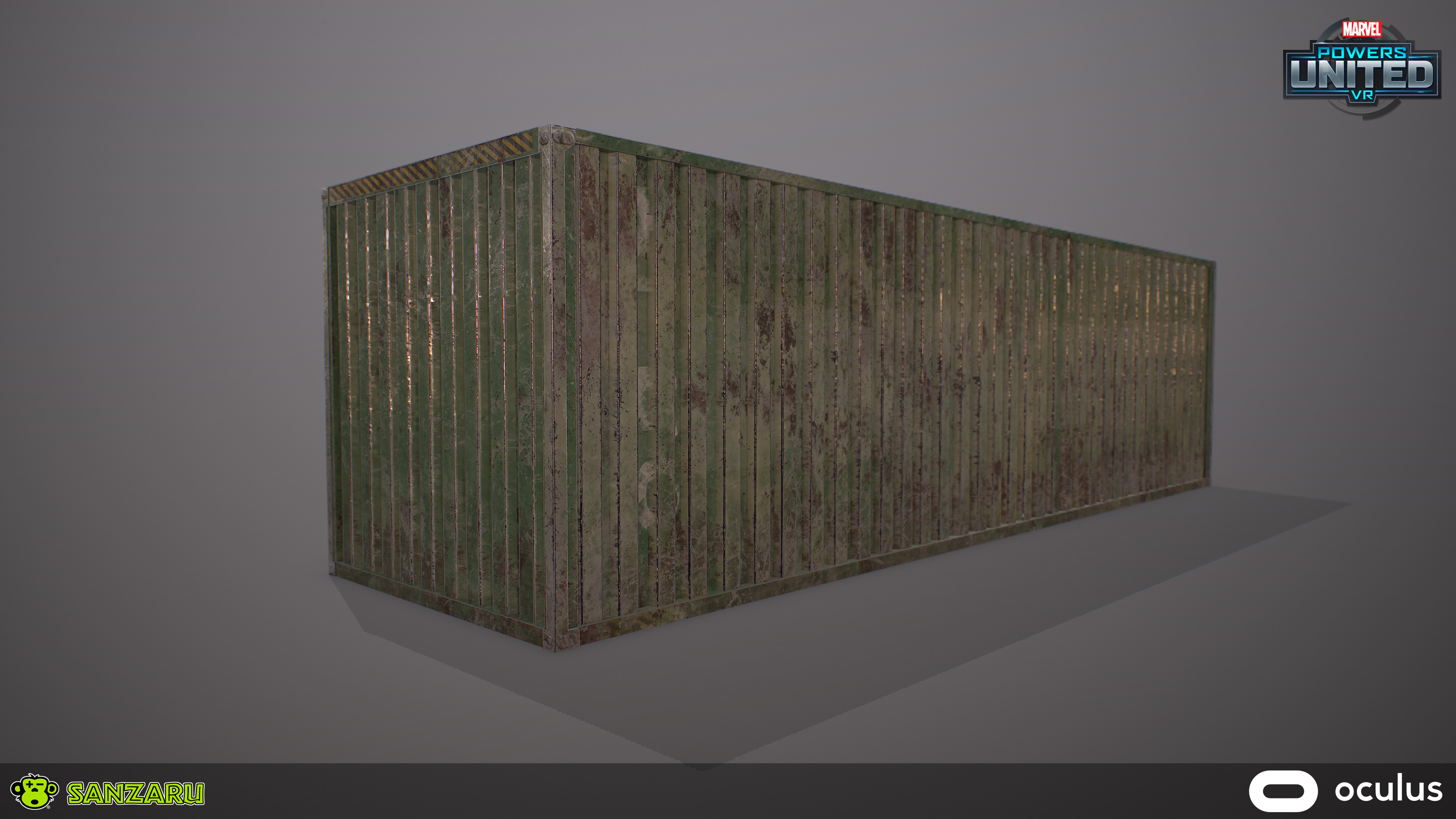 Truck Container -Solo View Modeled in Maya, Baked and Textured in Substance Painter