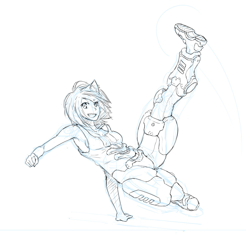 Raymond cripps gabriella kickpose progress02