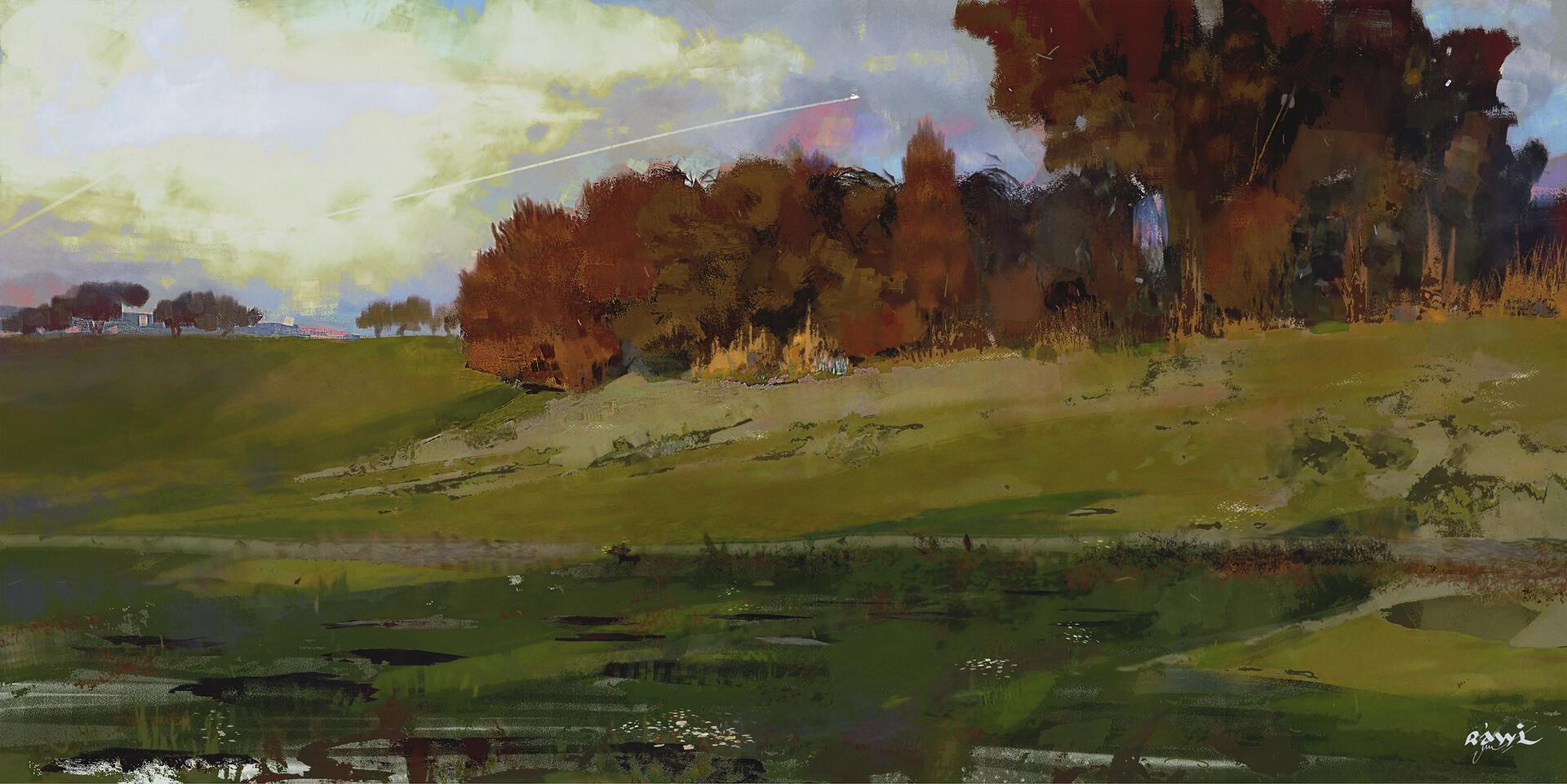 Ahmed rawi landscape study 1