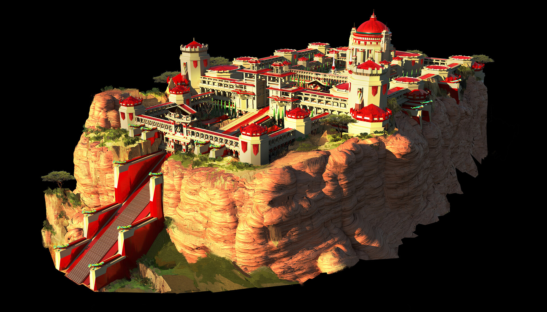Tri-Khans Palace - Isolated