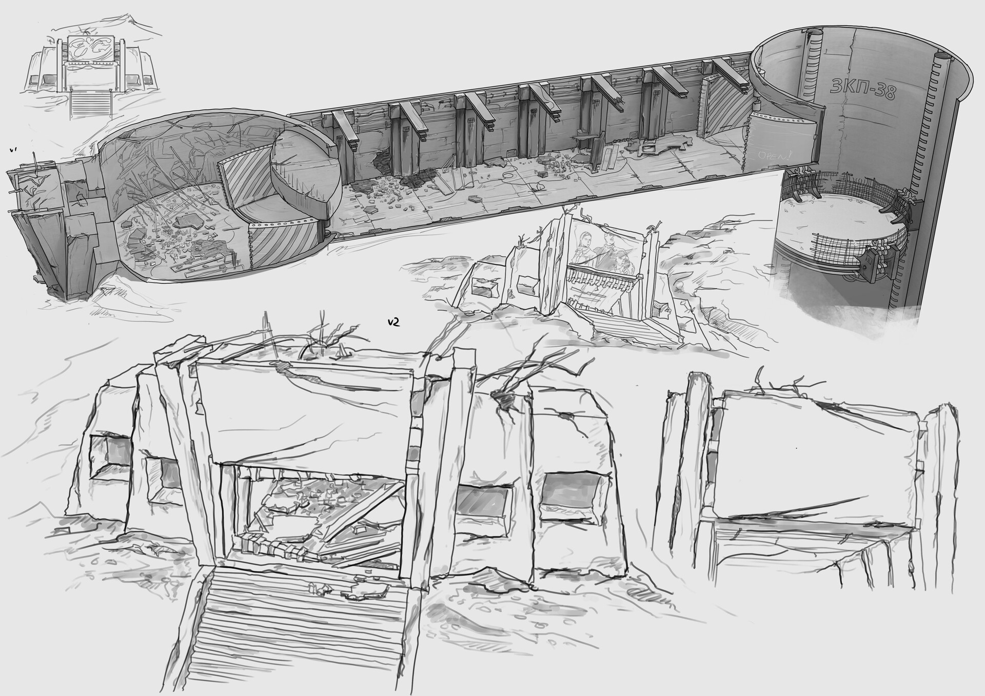 Sketches + Other variations + Inside view