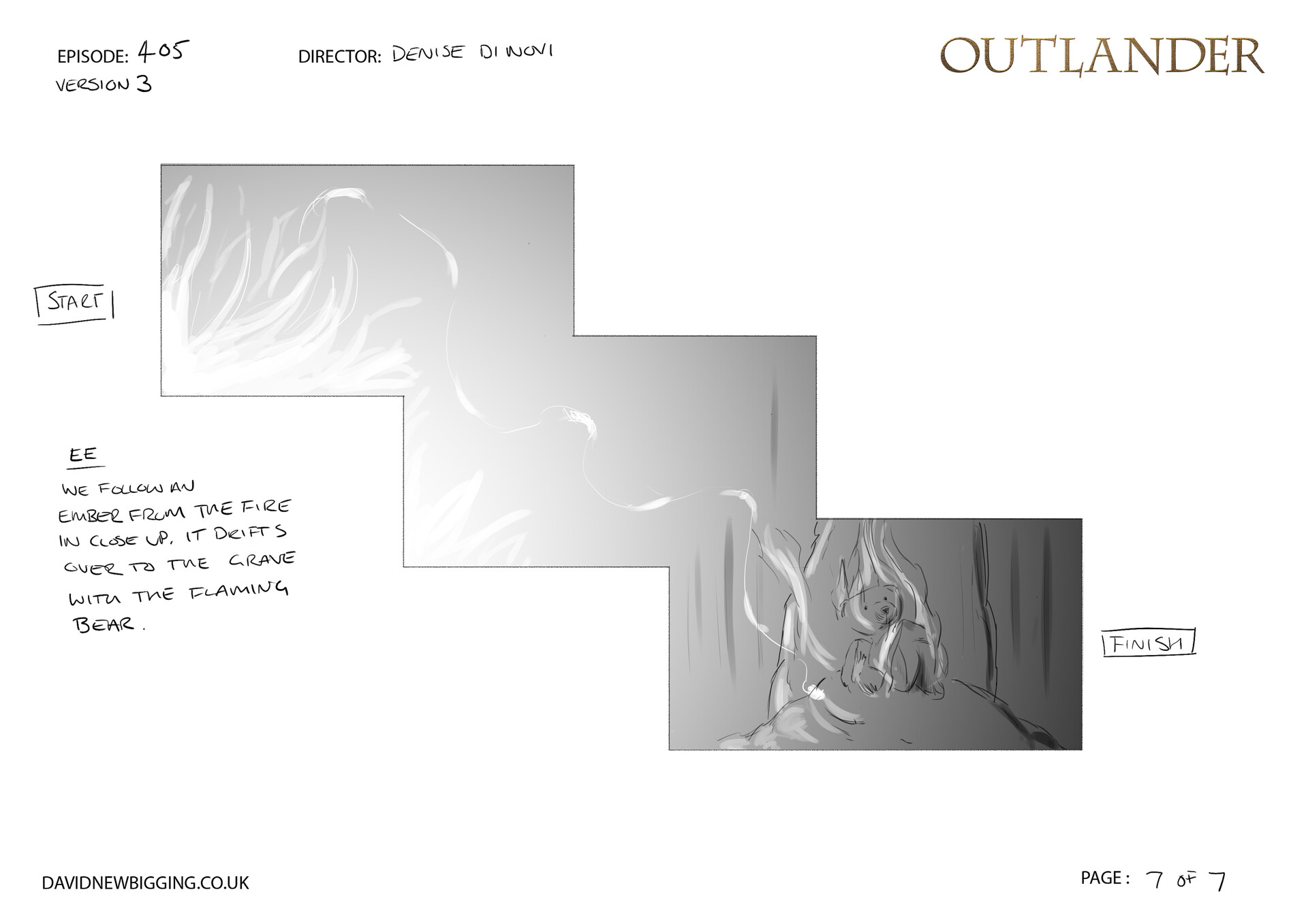 David newbigging outlander 405 cabin burning sequence storyboards version 3 7