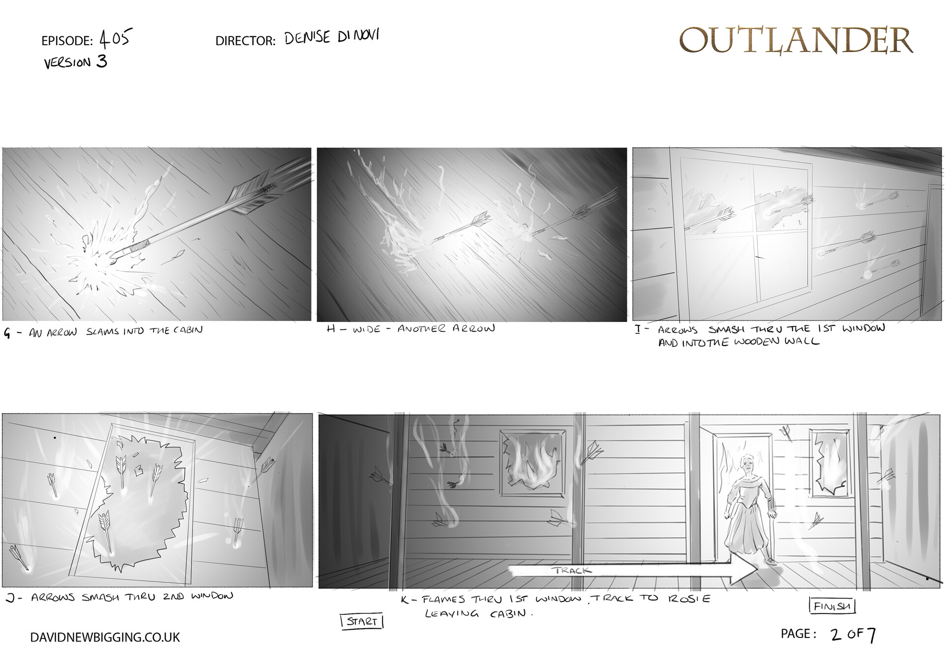 David newbigging outlander 405 cabin burning sequence storyboards version 3 2
