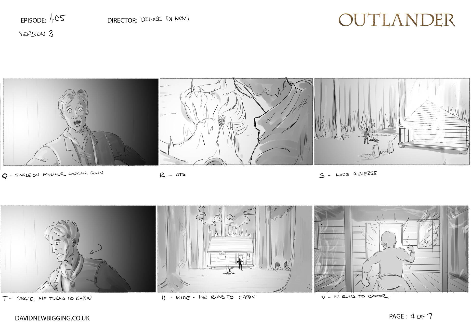 David newbigging outlander 405 cabin burning sequence storyboards version 3 4