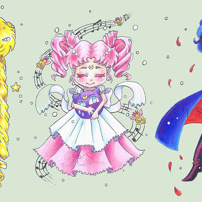 Nasika sakura sailor moon chibis speedart 2 of 2 by nasikasakura d98747b fullview