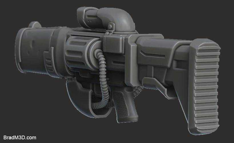 Gun High Poly: Zbrush Render_02