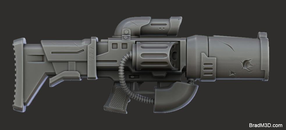Gun High Poly: Zbrush Render_01
