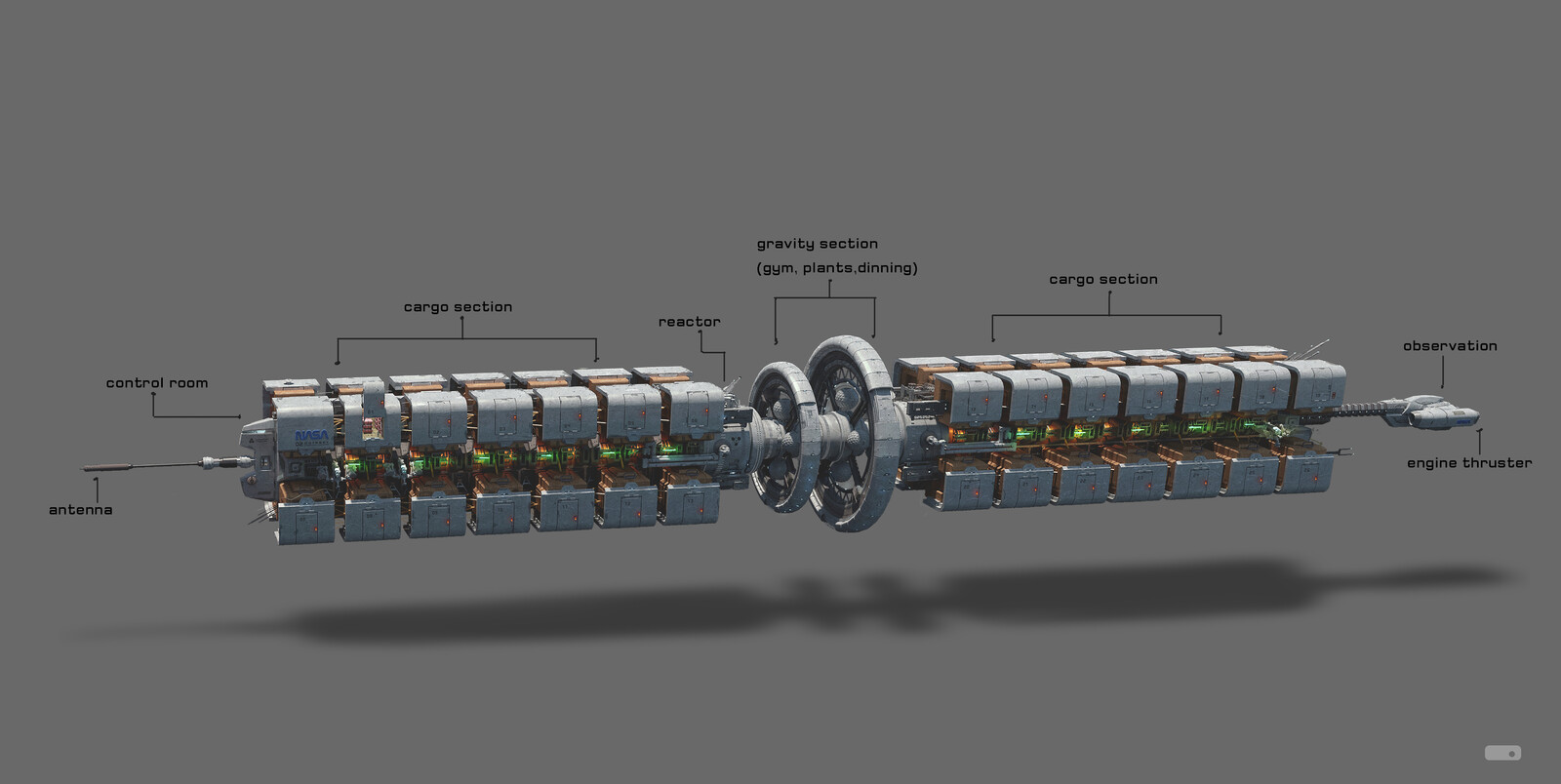 Odyssey: Cargo ship Concept design