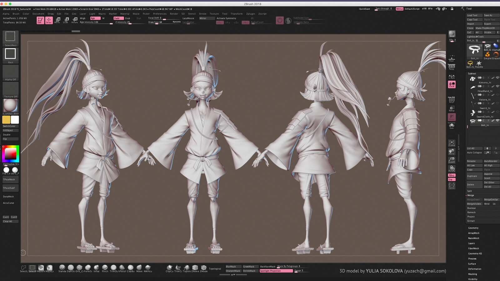 High-poly in Zbrush