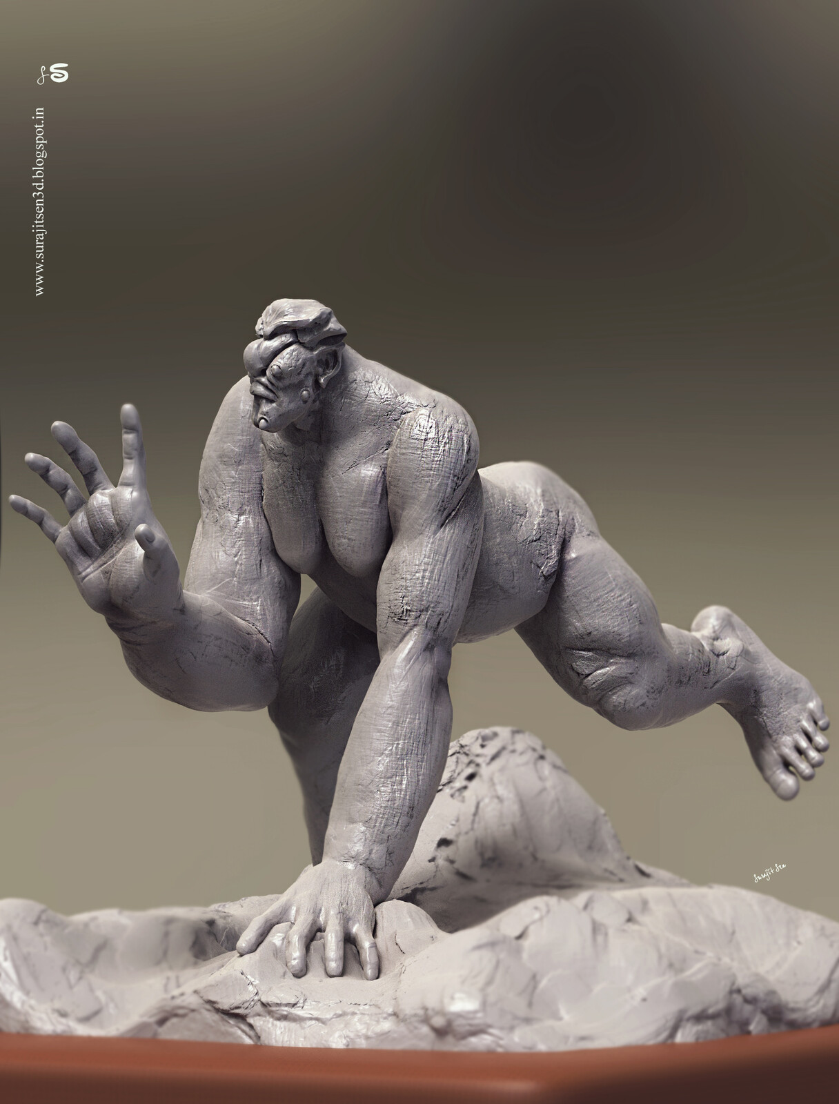 Basic block of Creature……My free time speed Digital sculpt! 